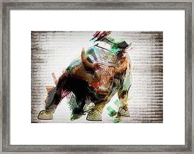 Stock Bull Digital Framed Print
