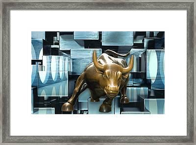Stock Investor Framed Print
