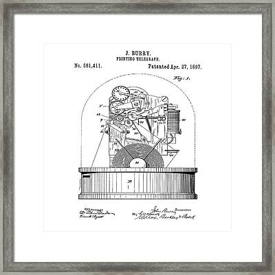 Stock Ticker Patent 1897 Framed Print