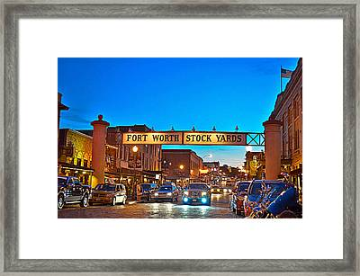 Stock Yards Framed Print