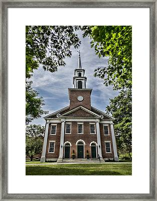 Stockbridge Congregational Church Framed Print