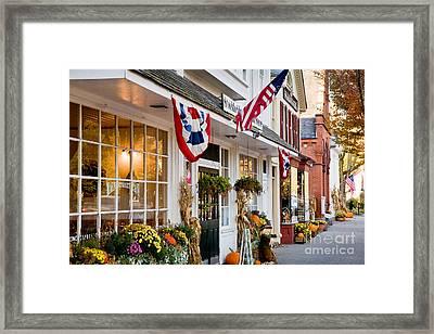 Stockbridge Main Street Framed Print by Susan Cole Kelly