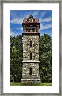 Stockbridge Memorial Tower Framed Print by Stephen Stookey