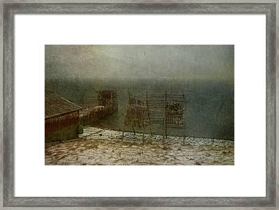 Stockfish Dryers Framed Print by Vittorio Chiampan
