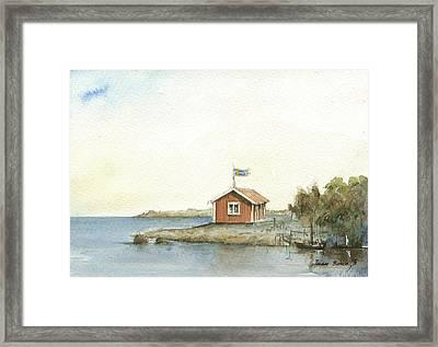 Stockholm Archipelago Framed Print by Juan Bosco
