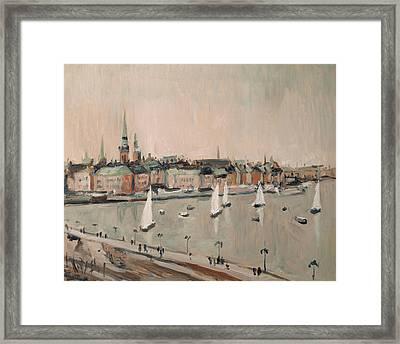 Stockholm Regatta Framed Print