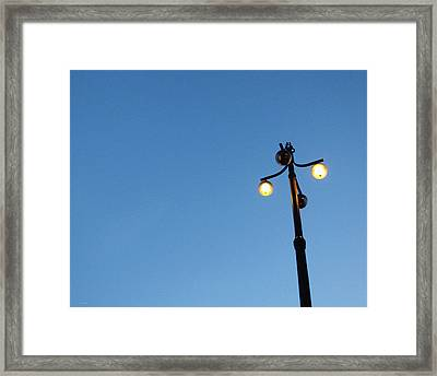 Stockholm Street Lamp Framed Print by Linda Woods