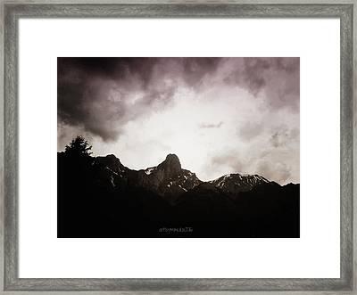 Framed Print featuring the photograph Stockhorn by Mimulux patricia no No