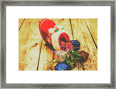 Stocking Up For Christmas Framed Print