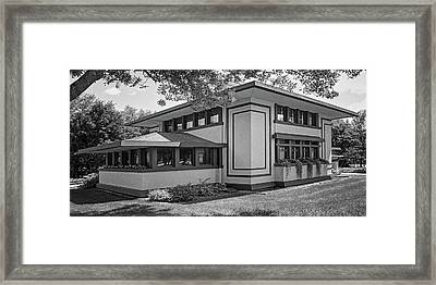 Stockman House - Frank Lloyd Wright - Black And White Framed Print