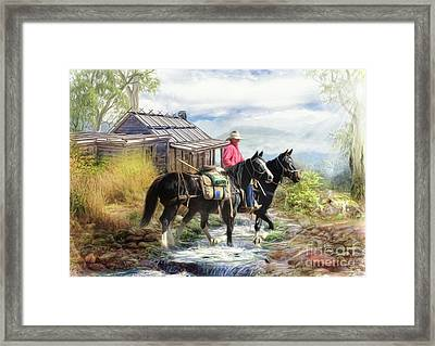 Stockman Of The Snowy Framed Print