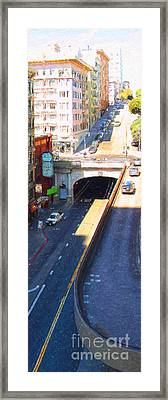 Stockton Street Tunnel In Heavy Shadow . Long Version Framed Print