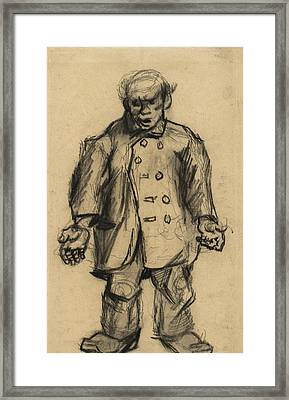 Stocky Man, 1885 01 Framed Print by Vincent Van Gogh