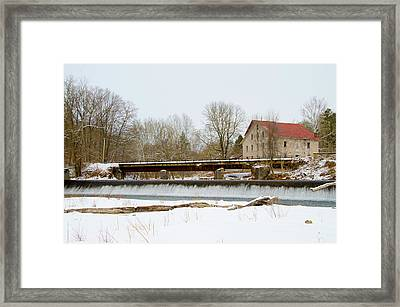 Stocton New Jersey - Prallsville Mills Framed Print