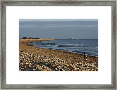 Stokes Bay England Framed Print by Terri Waters