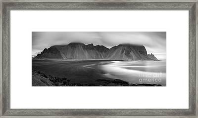 Stokksnes Iceland Bandw Framed Print
