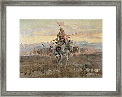 Stolen Horses Framed Print by Charles Marion Russell