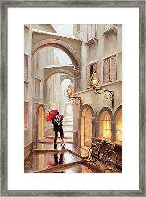 Stolen Kiss Framed Print