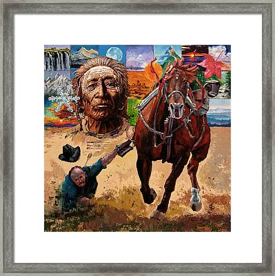 Stolen Land Framed Print