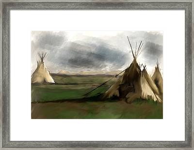Framed Print featuring the painting Stolen Spirit  by Iconic Images Art Gallery David Pucciarelli