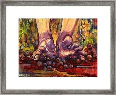 Stomp Framed Print by Peggy Wilson