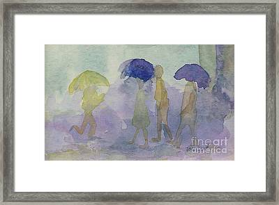 Stomping In The Rain Framed Print by Vicki  Housel