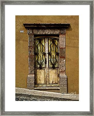 Stone And Ironwork Framed Print