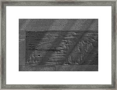 Stone And Light Framed Print by Robert Ullmann