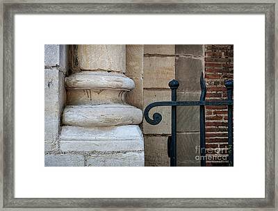 Stone And Metal Framed Print by Elena Elisseeva