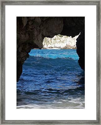 Stone And Sea 2 Framed Print by Adam Schwartz