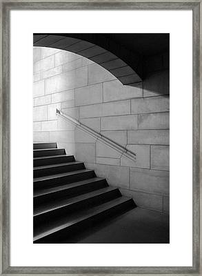 Stone And Steps Framed Print by Donald Schwartz