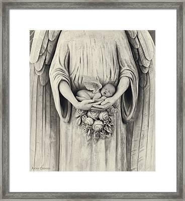 Stone Angel Framed Print by Anne Geddes