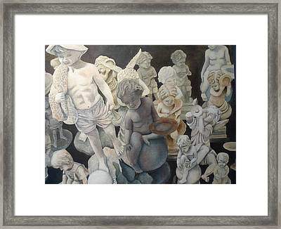 Stone Angels Framed Print by Victoria Heryet