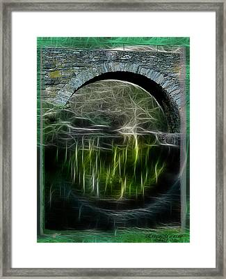 Framed Print featuring the photograph Stone Arch Bridge - Ny by EricaMaxine  Price