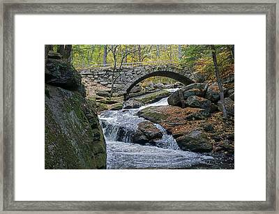 Stone Arch Bridge In Autumn Framed Print