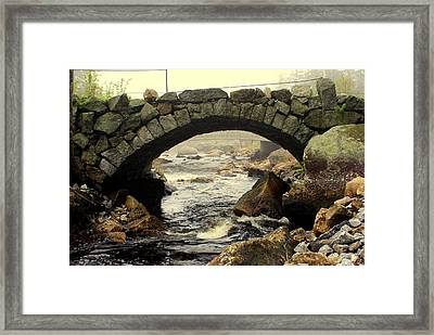 Stone Arch Up Close Framed Print by Lois Lepisto