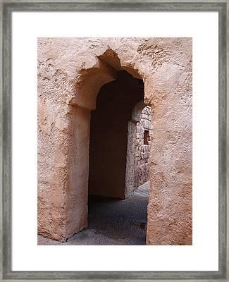 Stone Arches Framed Print by Kim Chernecky
