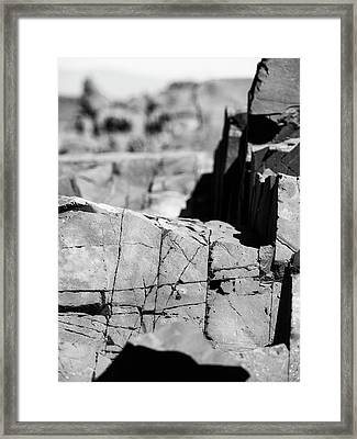 Stone Architecture Framed Print