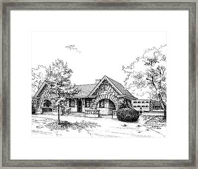 Stone Ave. Train Station Framed Print by Mary Palmer