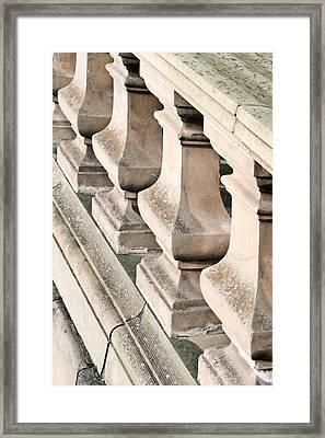 Stone Bannister Framed Print by Tom Gowanlock