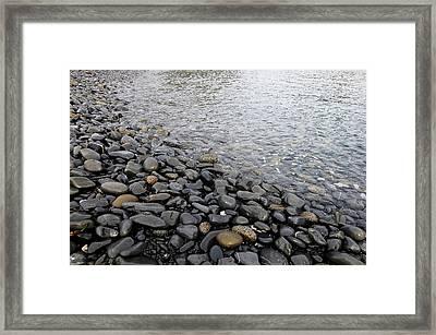 Framed Print featuring the photograph Menorca Pebble Beach  by Pedro Cardona