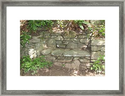 Stone Bench Framed Print