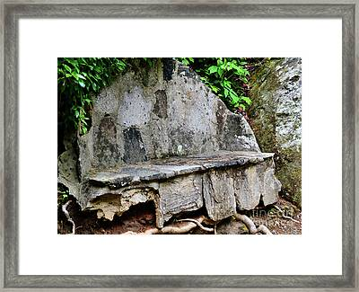 Stone Bench Two Framed Print