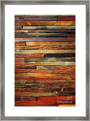Stone Blades Framed Print by Carlos Caetano