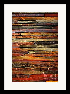 Wall Stone Wall Framed Prints