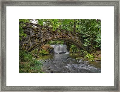 Stone Bridge At Whatcom Falls Park Framed Print