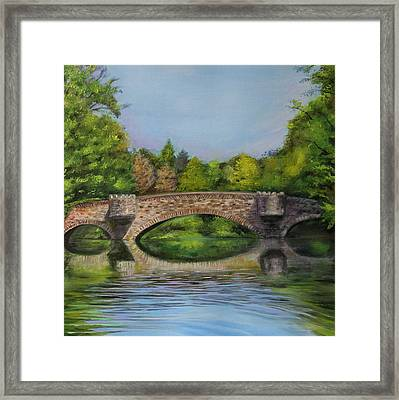 Stone Bridge In Midsummer Framed Print