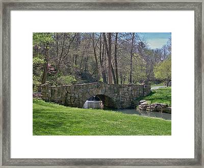 Stone Bridge Framed Print by Julie Grace