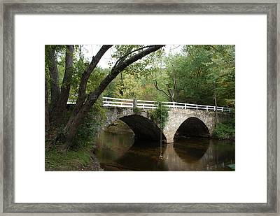 Framed Print featuring the photograph Stone Bridge by Lois Lepisto