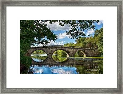 Stone Bridge Over The River 590  Framed Print